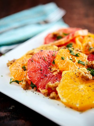 Citrus Salad with Poppy Seed Dressing & Citrus Health Benefits recipe ...