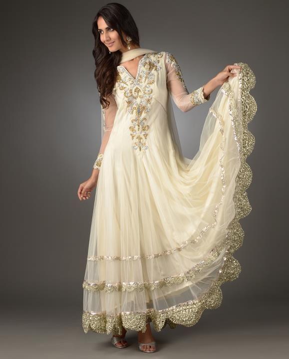 pakistani gold wedding dress