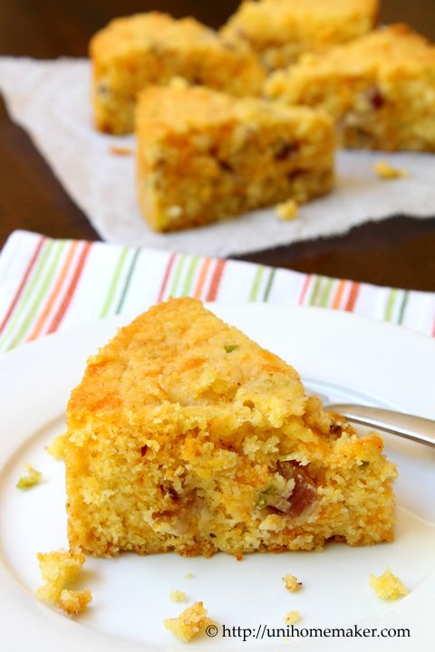 Bacon and Cheddar Cornbread | Fabulous Food | Pinterest