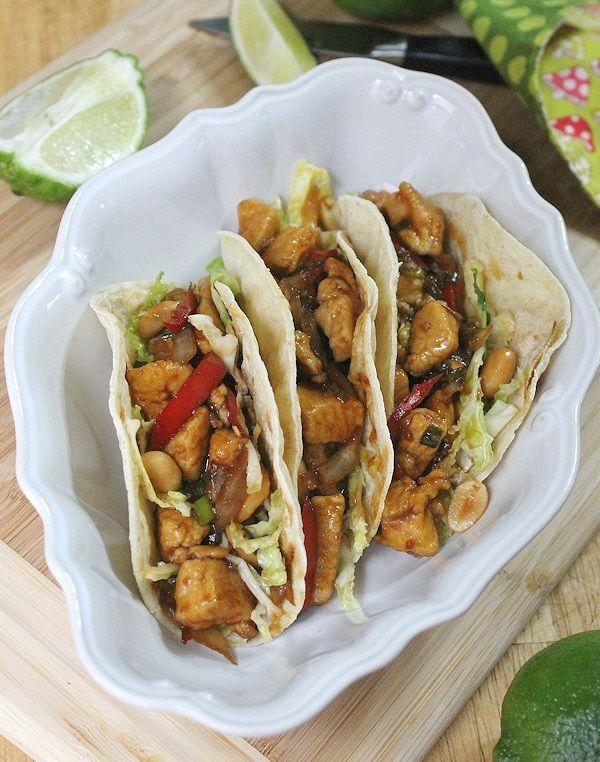 Szechuan Chicken Tacos - I used the Spicy-Cilantro Peanut Slaw recipe ...