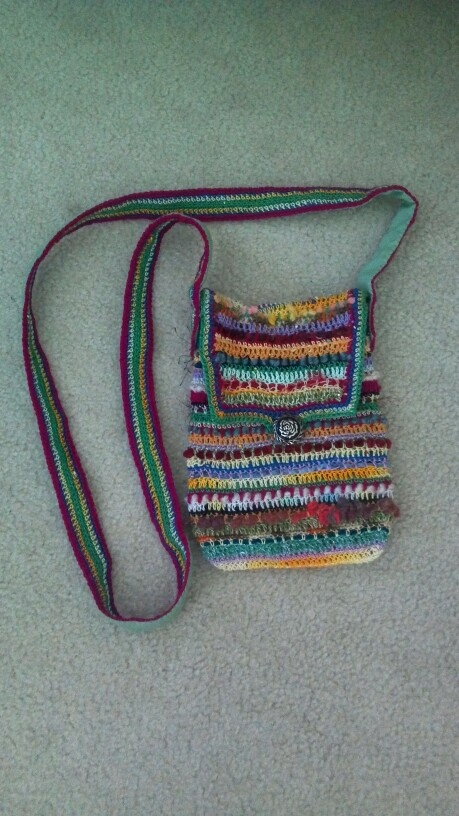 Sling Bag Crochet Pattern : Crocheted sling bag Handbags * Muffs * Pinterest