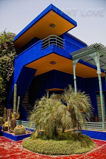 Jardin Majorelle Marrakech Morocco Garden Outside