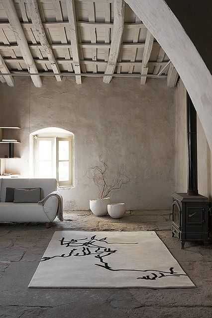 Beige and white with wood. Simplicity
