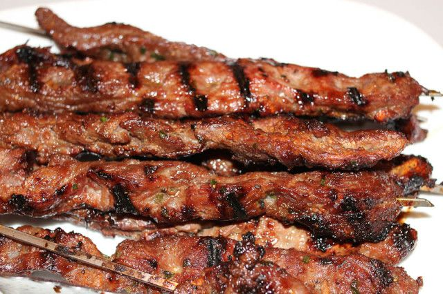 Flank Steak Skewers | Grilling Recipes | Pinterest