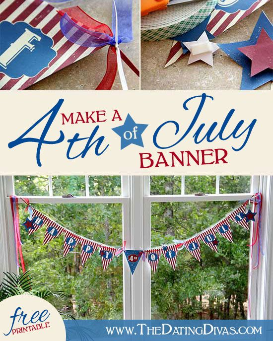 4th of july banner garland