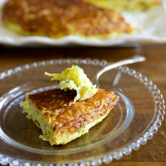 ... of zucchini and summer squash on this simple and delicious frittata