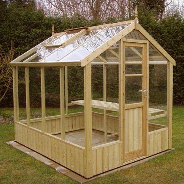 Greenhouse plans wood gardening pinterest for Garden greenhouse designs