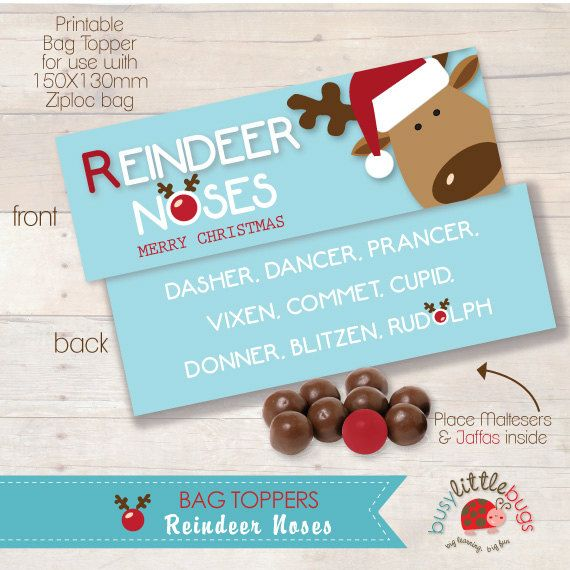 Reindeer Noses Bag Toppers AUTOMATIC DOWNLOAD