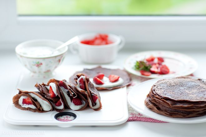 Chocolate Crepes with Fresh Strawberries | Recipe