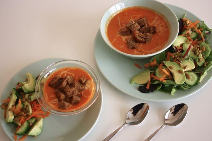 Creamy {chickpea} Tomato Basil Soup ‹ Mama. Papa. Bubba.Mama. Papa ...