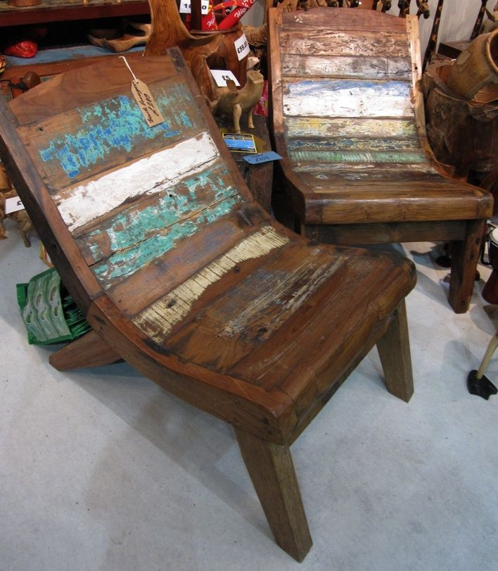 Balinese fishing boat chairs good wood pinterest