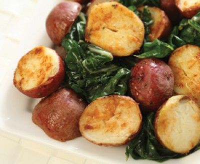 Saltscapes Food & Drink - Red Potatoes with Wilted Greens by Marie ...