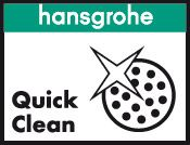 The revolutionary QuickClean system makes it disappears hansgrohe lime tap