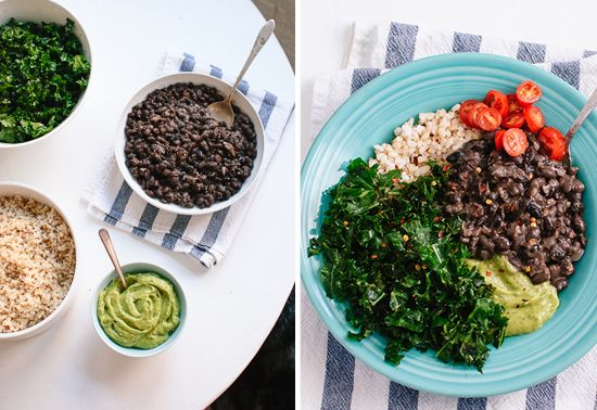 black bean, kale, quac burrito bowl. @Suzanne Jackson we're having ...