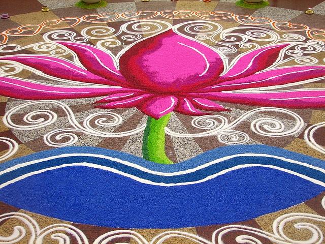New Year Special Lotus Rangoli