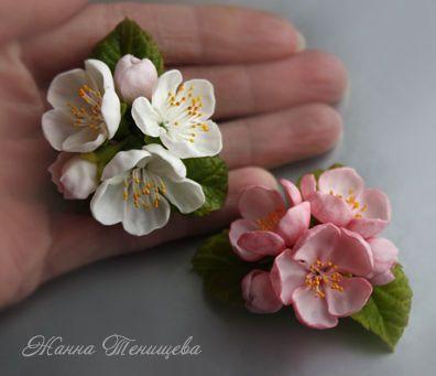 Цветы яблони из фоамирана своими руками с пошаговым фото для начинающих 27