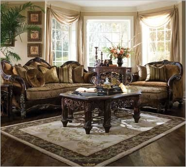 michael amini essex manor living room collection