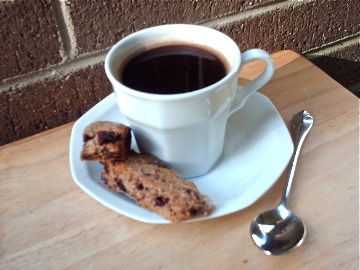Chocolate Cherry Biscotti | coffee tea and my way to be! | Pinterest