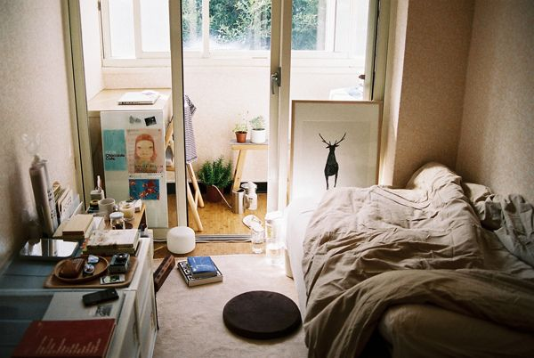 Small Messy Apartment Bedroom