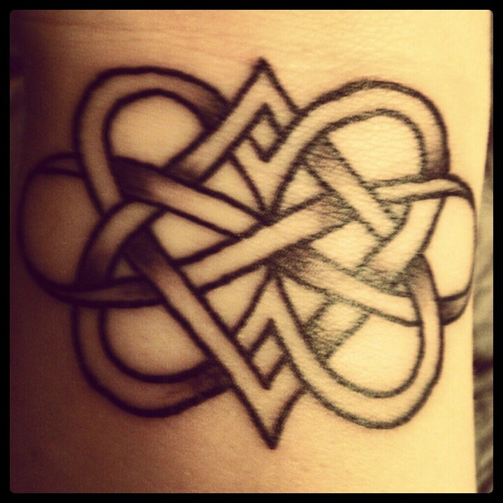 my tattoodouble heart infinity the body is a canvas