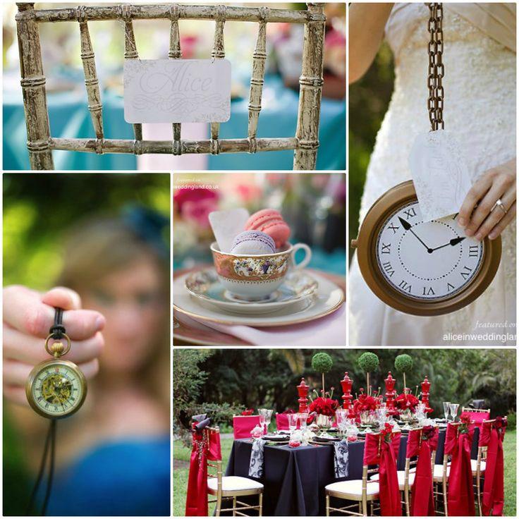 Déco de mariage Alice - www.fairepart.fr aime ! #Alice #wonderland # ...