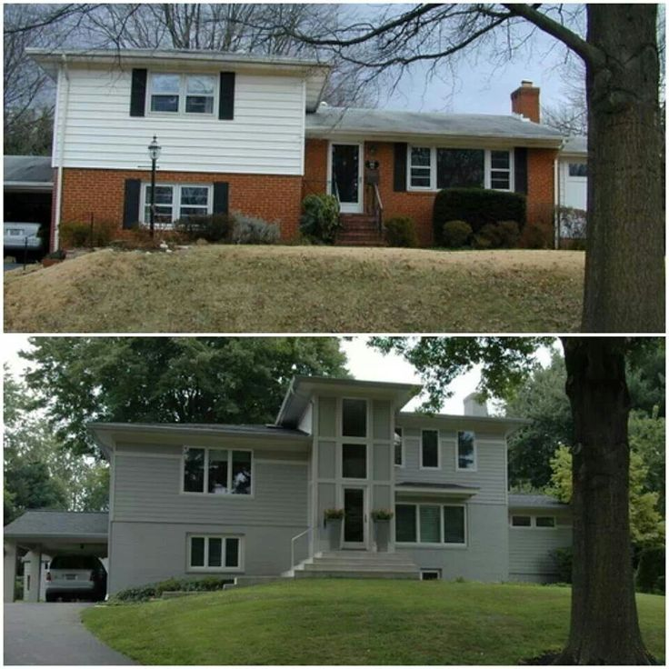 Exterior update before and after furniture home dyi pinterest - Home exteriors before and after ...