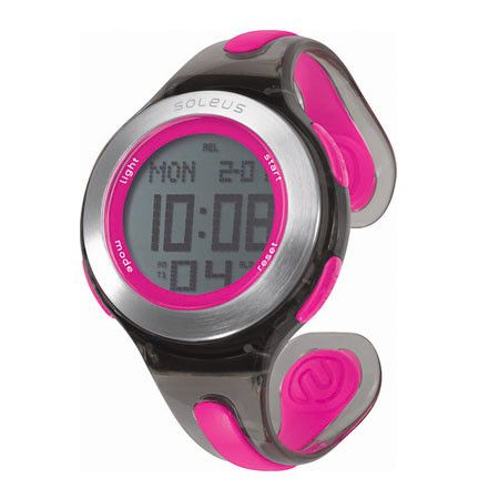 You run like a girl. Keep it up. Soleus Swift Watch. $55 #Soleus #Fitness #Watch #Pink #Black