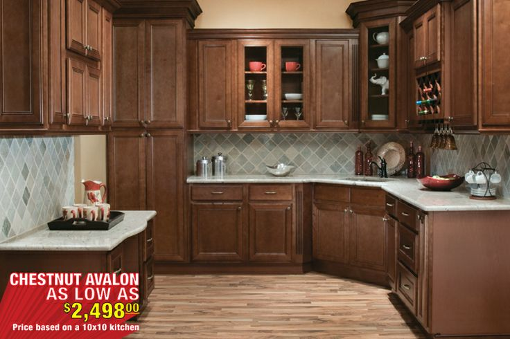 Chestnut Avalon Kitchen Cabinets Kitchen Cabinets The Solid Wood Cabinet Company Kitchen