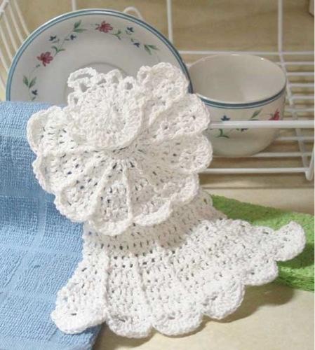 Crochet Angel Dishcloth crafts Pinterest