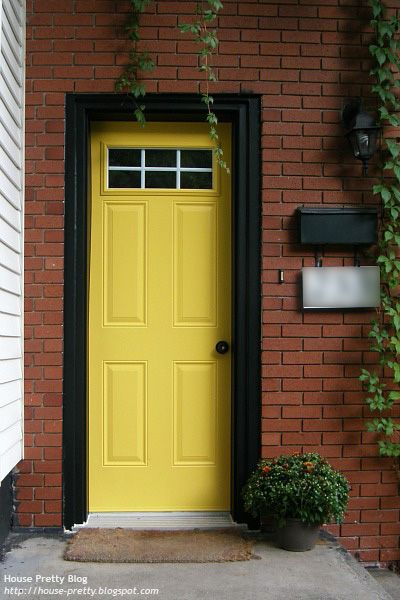 Yellow front door my house pinterest for Doors for front door