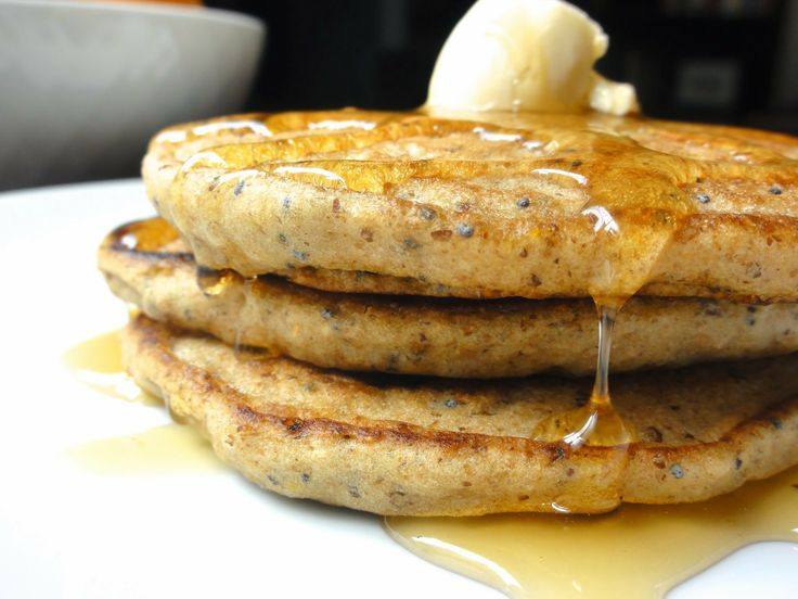 Lemon Poppy Seed and Yogurt Pancakes #vegan #oilfree Brett and I loved ...