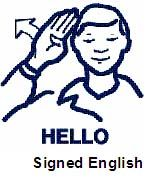 Asl sign for quot hello quot asl american sign language pinterest