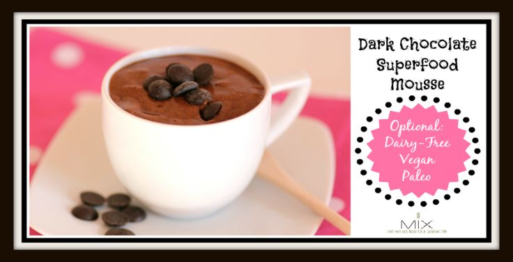 Dark Chocolate Superfood Mousse {Dairy-Free, Paleo & Vegan Option ...