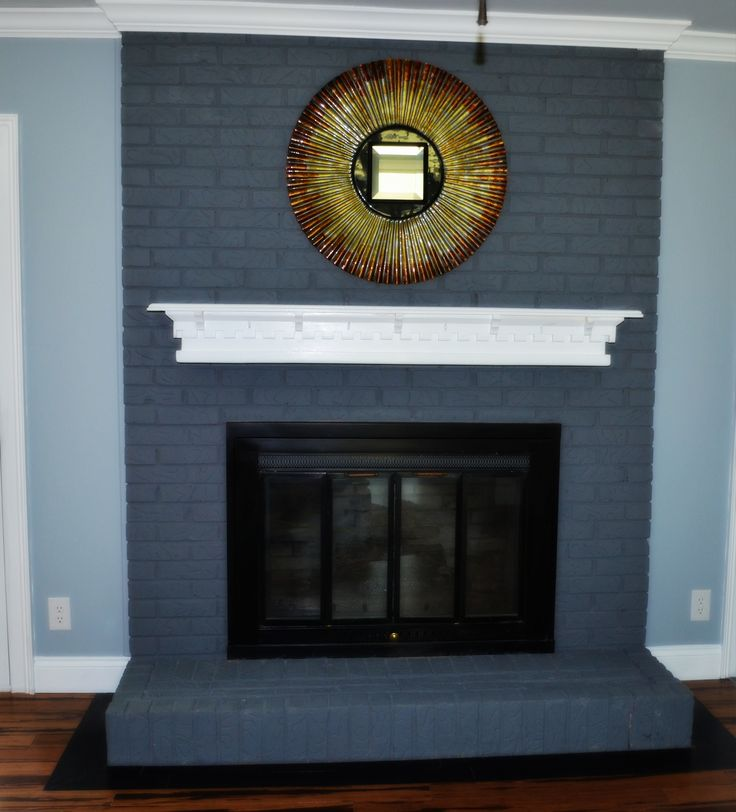 Chalk Paint Fireplace Makeover Painted Brick Pinterest
