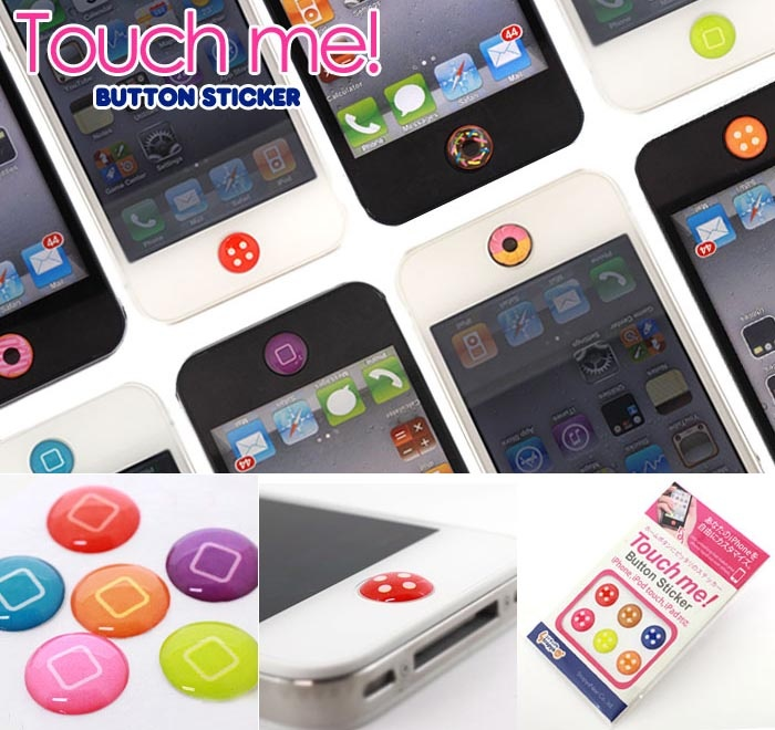 iPhone/iPad/iTouch home button stickers to accessorize your device. A lot of people have apple products and this is a great way to identify your own device