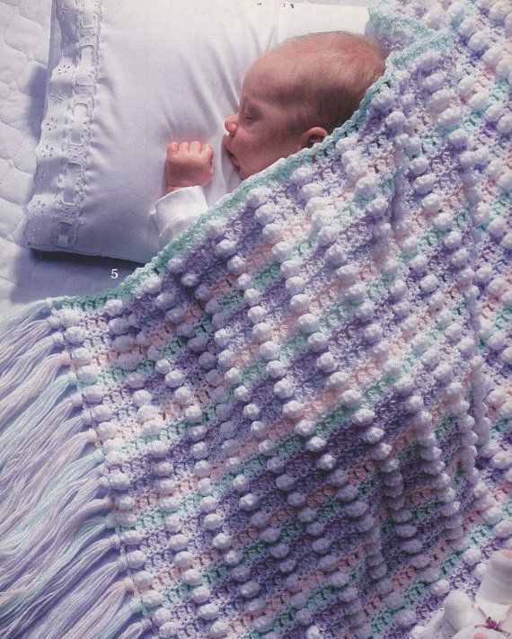 Puffy Crochet Baby Blanket Pattern : Puffy Baby Afghan Crochet Patterns - 6 Pretty Baby Blanket ...