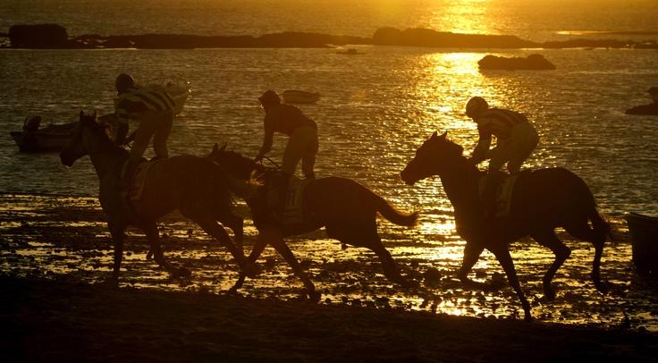 Participantes en la ultima jornada de la 167 edición de las tradicionales carreras de caballos de Sanlucar de Barrameda Cádiz (Román Ríos/EFE)