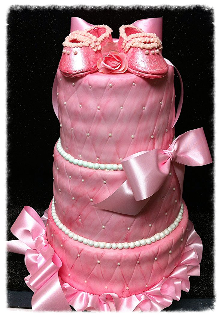 princess pink baby shower cake cakes pinterest