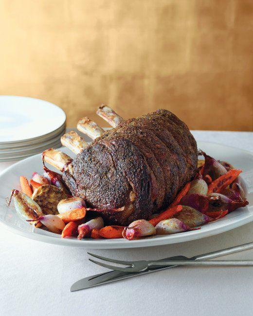 Herb-Crusted Standing Rib Roast | Recipe