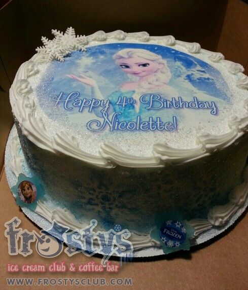 Frozen Ice Cream Cake Images : Frozen Elsa image ice cream cake Ice Cream Cakes Pinterest
