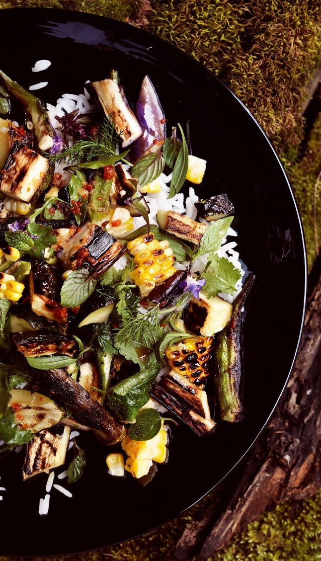 GRILLED VEGETABLE and RICE SALAD with FISH SAUCE VINAIGRETTE [Malaysia ...