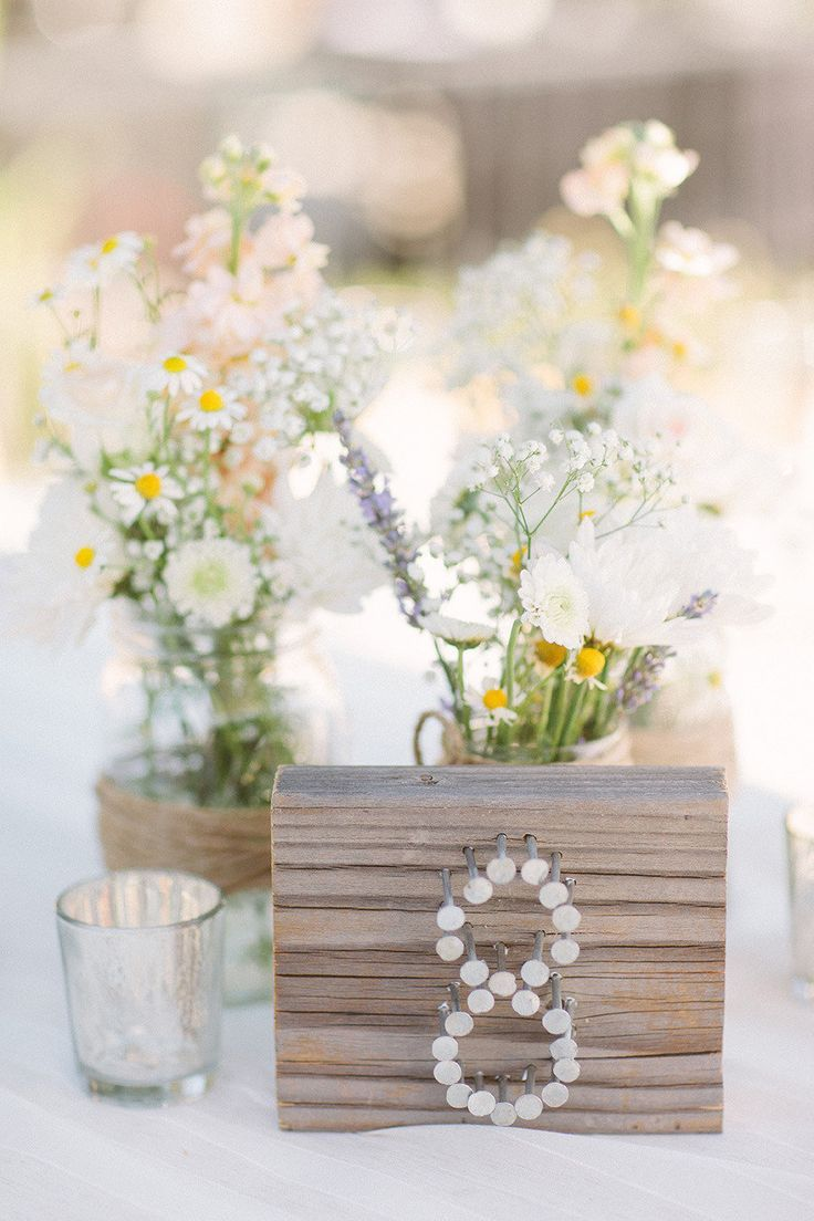Unique and creative wedding table number ideas
