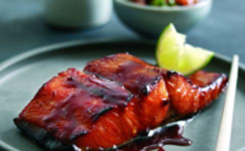 Japanese style grilled marinated Wild Alaska Sockeye Salmon with fresh ...