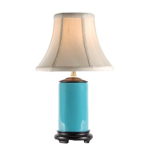 new small turquoise blue porcelain accent table lamp. Black Bedroom Furniture Sets. Home Design Ideas