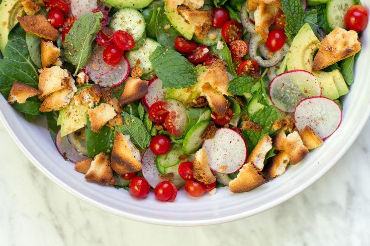 Avocado Fattoush Salad Recipe | aidamollenkamp.com