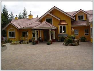 yellow stucco house stuff pinterest
