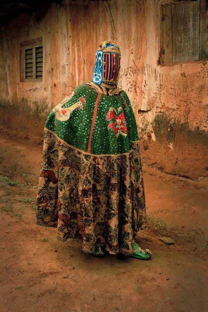 Egungun masquerader from Nigeria