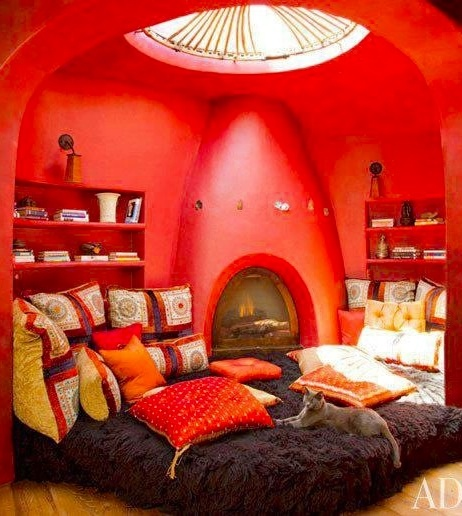 Red room for entertainment with a cultural twist!