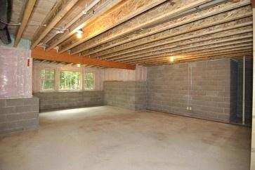 one sided daylight basement unfinished unfinished