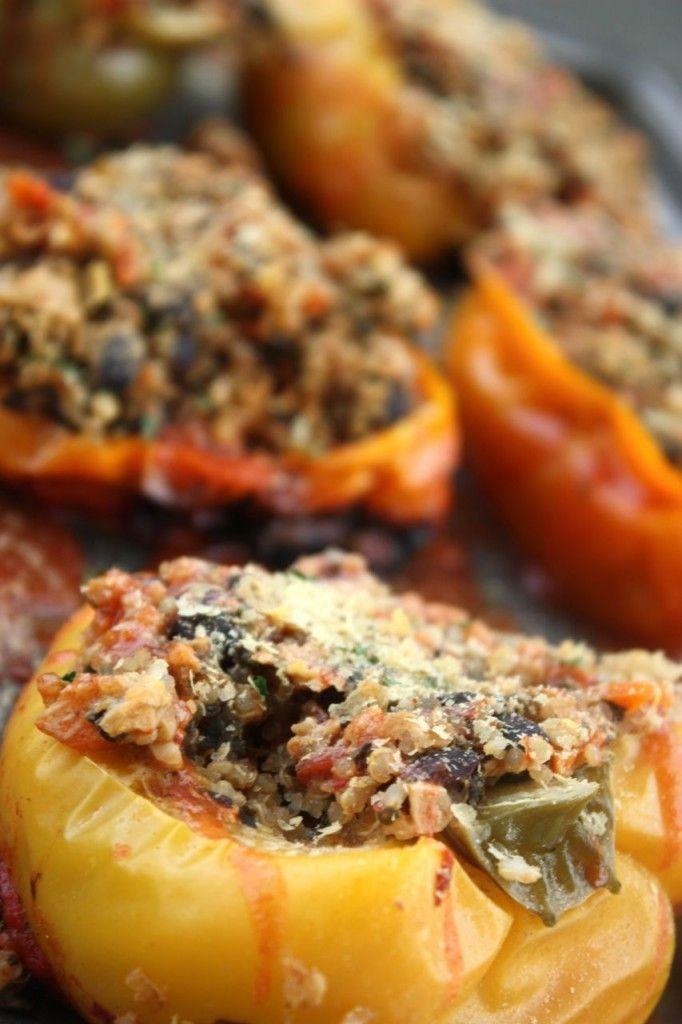 Quinoa Vegan stuffed peppers | vegan | Pinterest